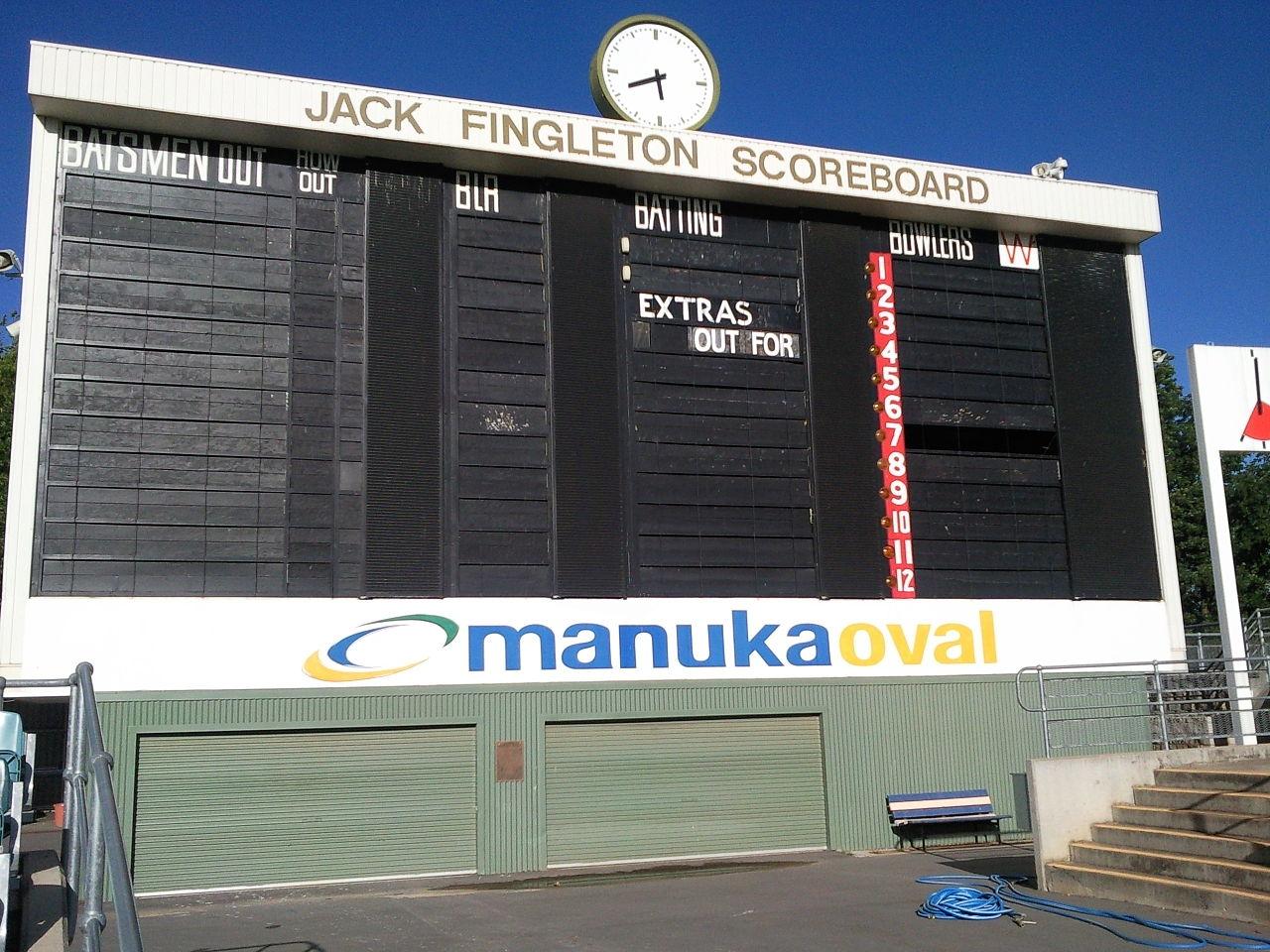 Manuka Oval's Test debut